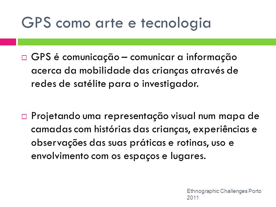 GPS como arte e tecnologia