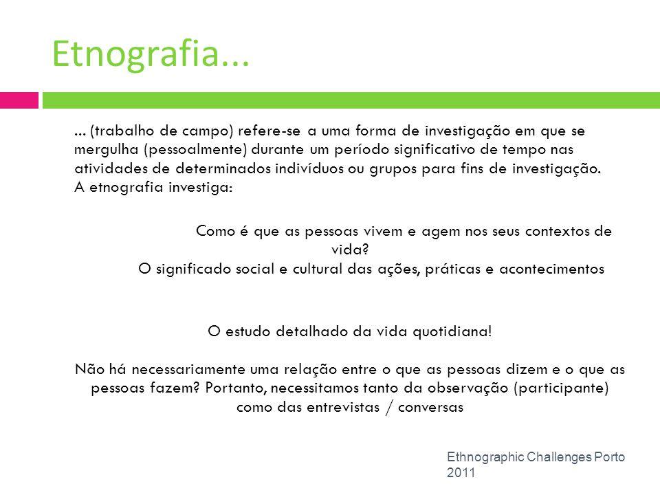 Etnografia...