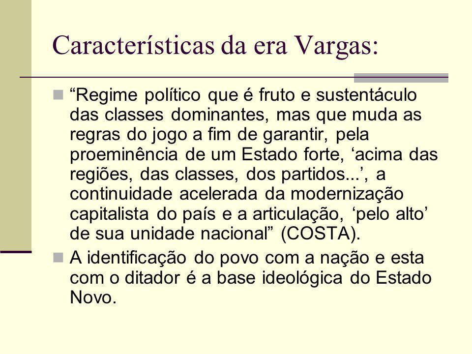 Características da era Vargas: