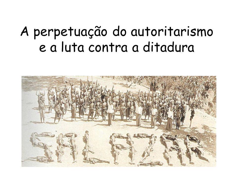 A perpetuação do autoritarismo e a luta contra a ditadura
