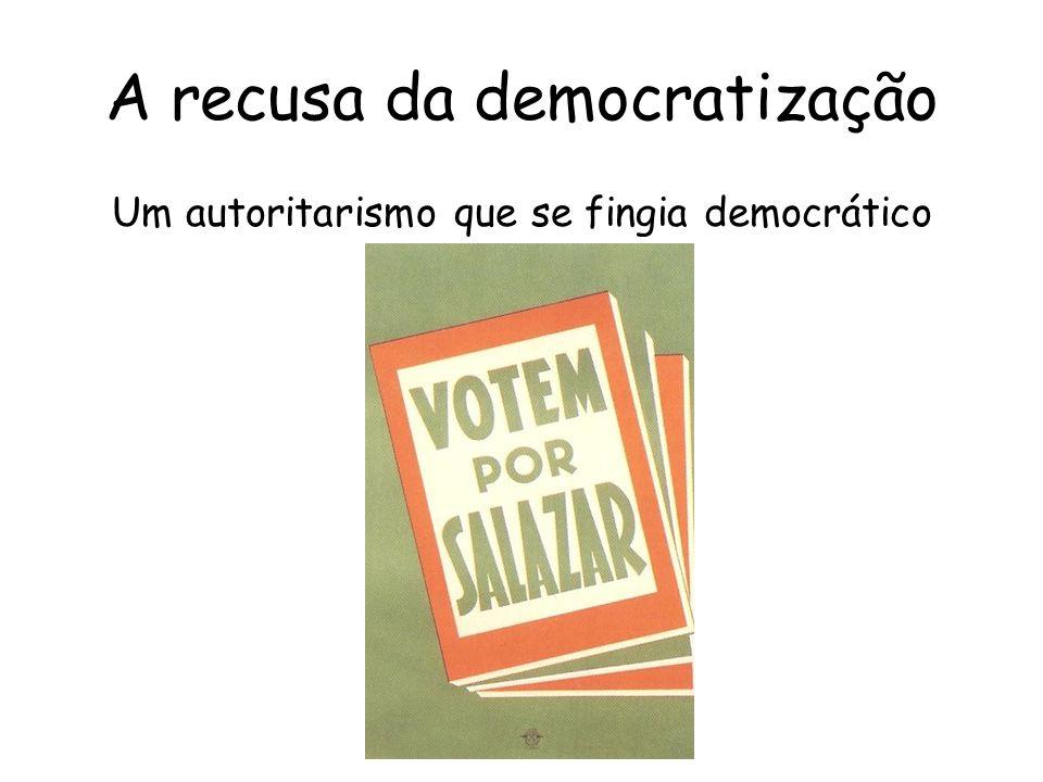 A recusa da democratização