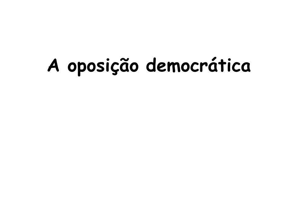 A oposição democrática