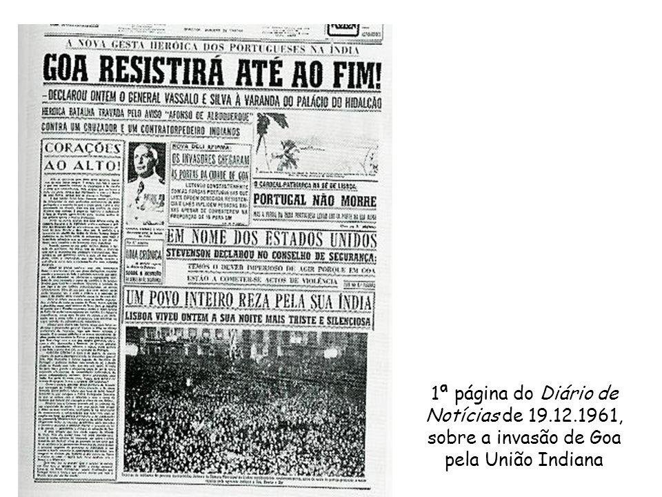 1ª página do Diário de Notícias de 19. 12
