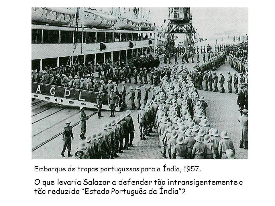 Embarque de tropas portuguesas para a Índia, 1957.