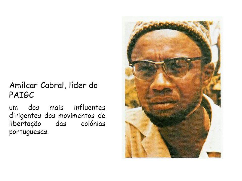 Amílcar Cabral, líder do PAIGC