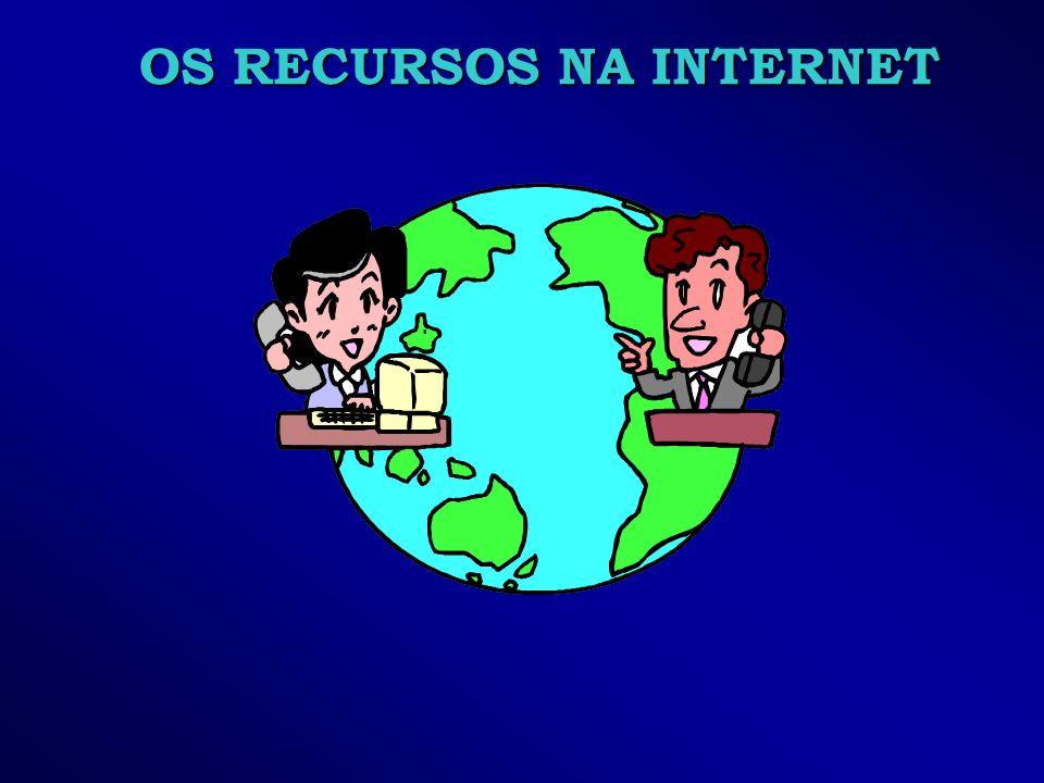 OS RECURSOS NA INTERNET
