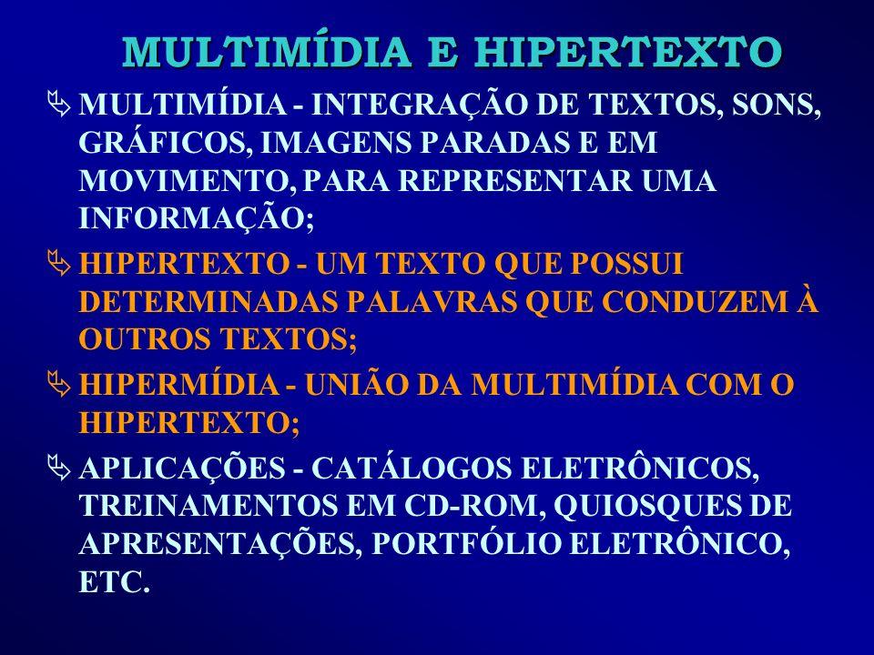MULTIMÍDIA E HIPERTEXTO