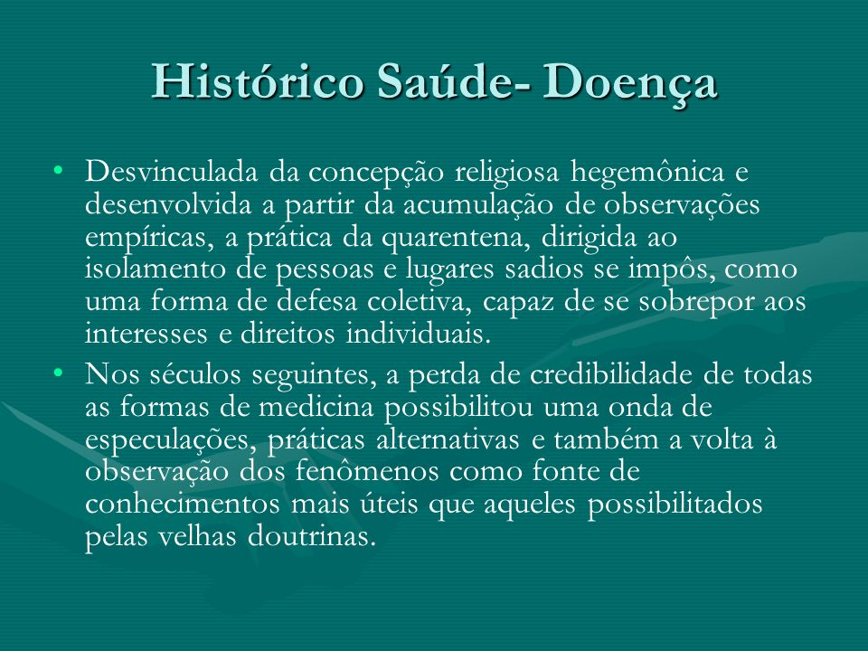 Histórico Saúde- Doença