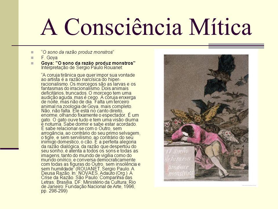 A Consciência Mítica O sono da razão produz monstros F. Goya
