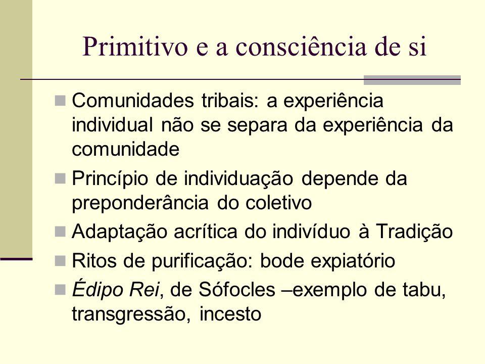 Primitivo e a consciência de si