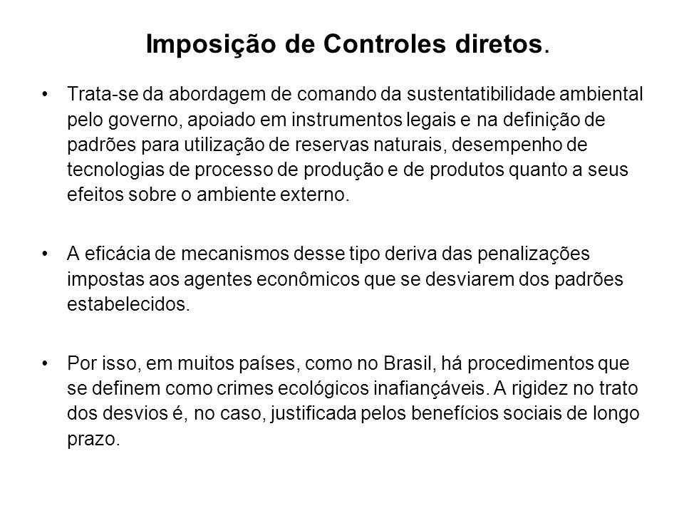 Imposição de Controles diretos.