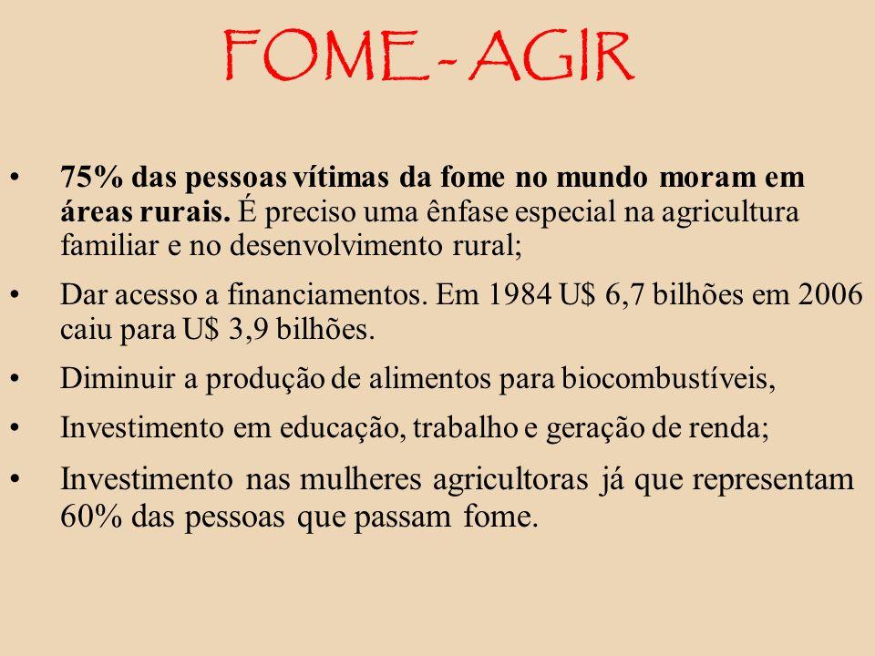 FOME - AGIR