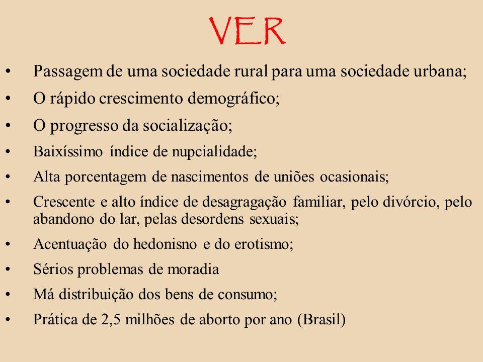 VER Passagem de uma sociedade rural para uma sociedade urbana;