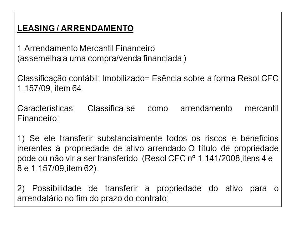 LEASING / ARRENDAMENTO