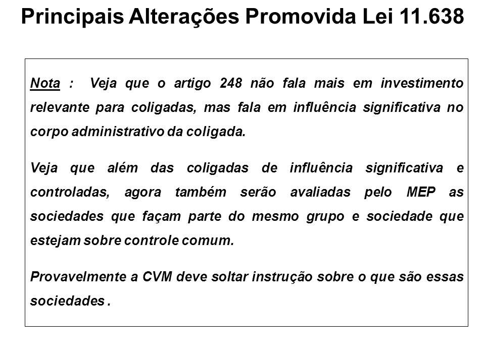 Principais Alterações Promovida Lei 11.638
