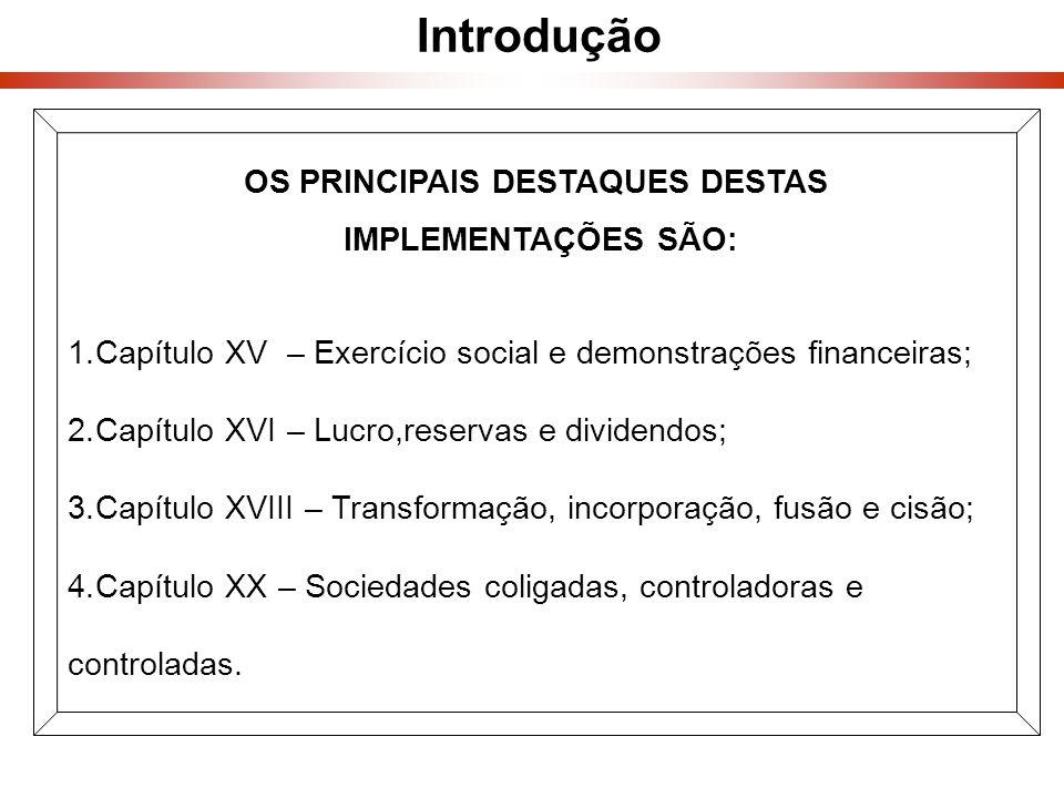 OS PRINCIPAIS DESTAQUES DESTAS