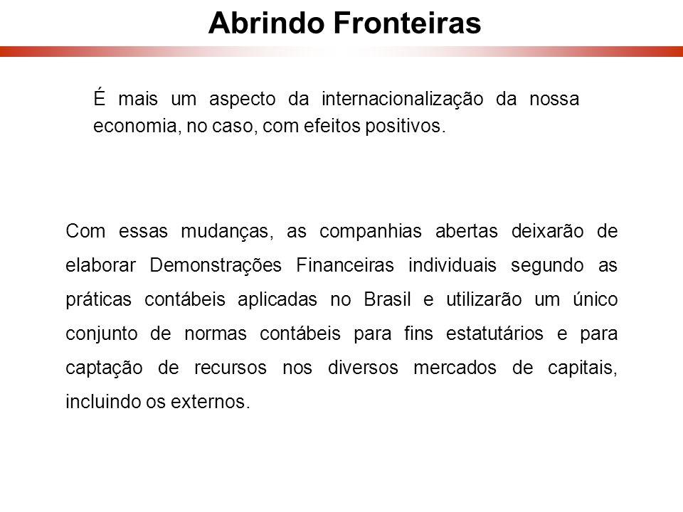 Abrindo Fronteiras É mais um aspecto da internacionalização da nossa economia, no caso, com efeitos positivos.