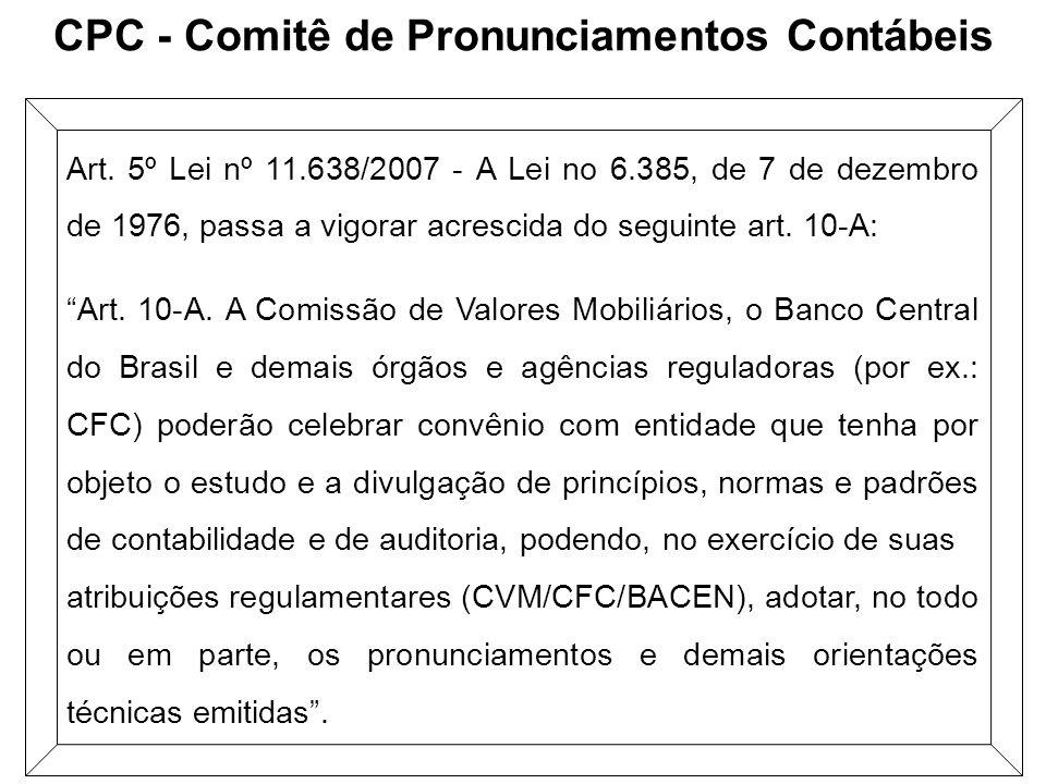 CPC - Comitê de Pronunciamentos Contábeis
