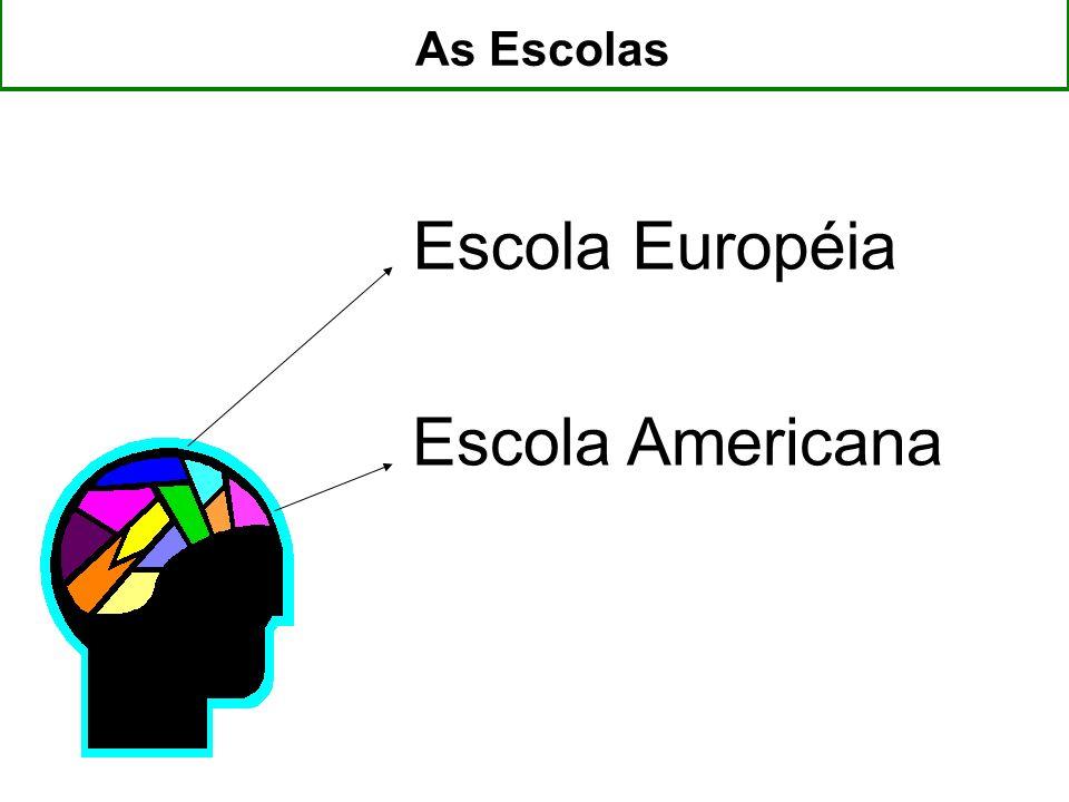 As Escolas Escola Européia Escola Americana