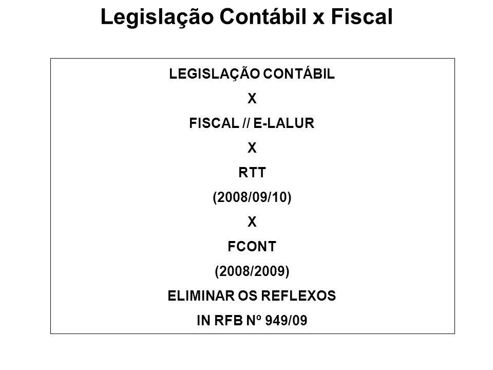 Legislação Contábil x Fiscal