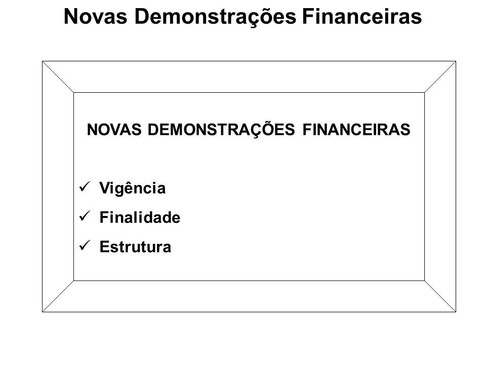 Novas Demonstrações Financeiras NOVAS DEMONSTRAÇÕES FINANCEIRAS