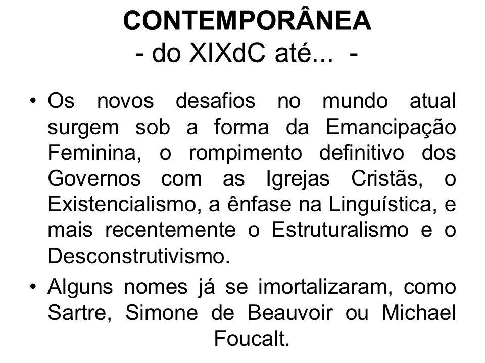CONTEMPORÂNEA - do XIXdC até... -
