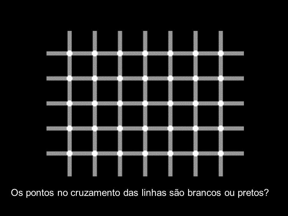 Os pontos no cruzamento das linhas são brancos ou pretos
