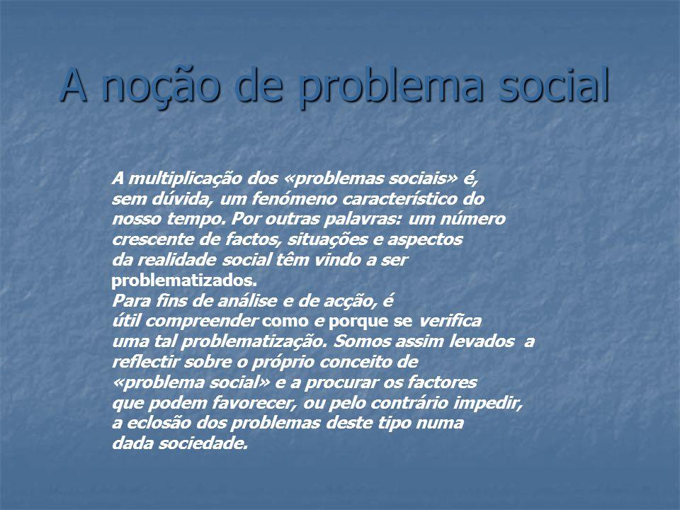 A noção de problema social