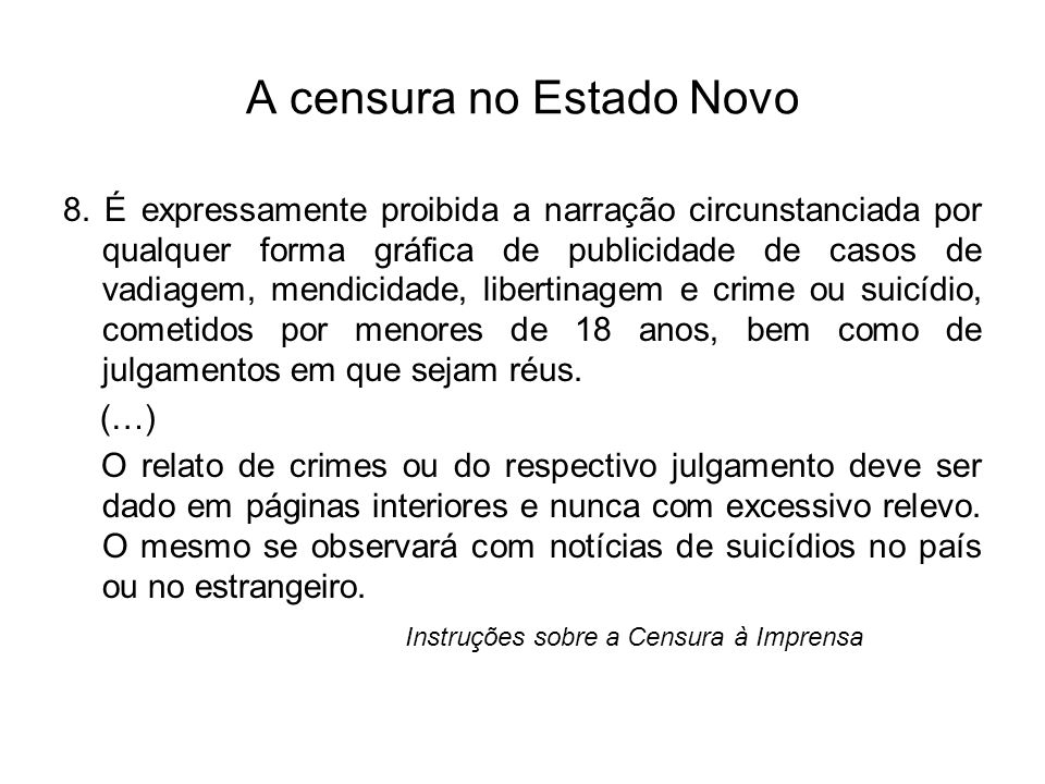 A censura no Estado Novo