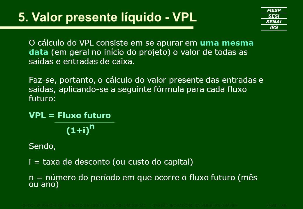 5. Valor presente líquido - VPL