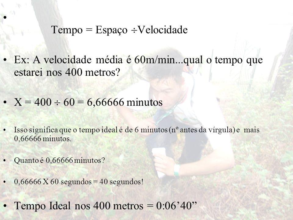 Tempo = Espaço Velocidade