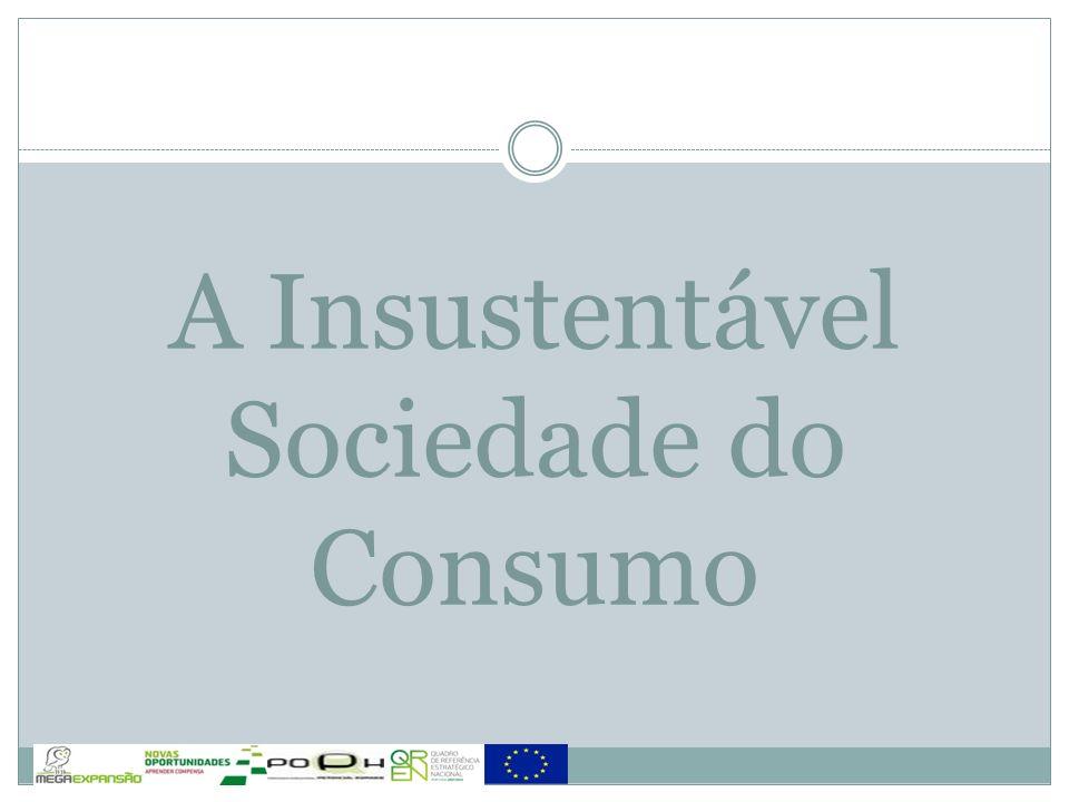 A Insustentável Sociedade do Consumo