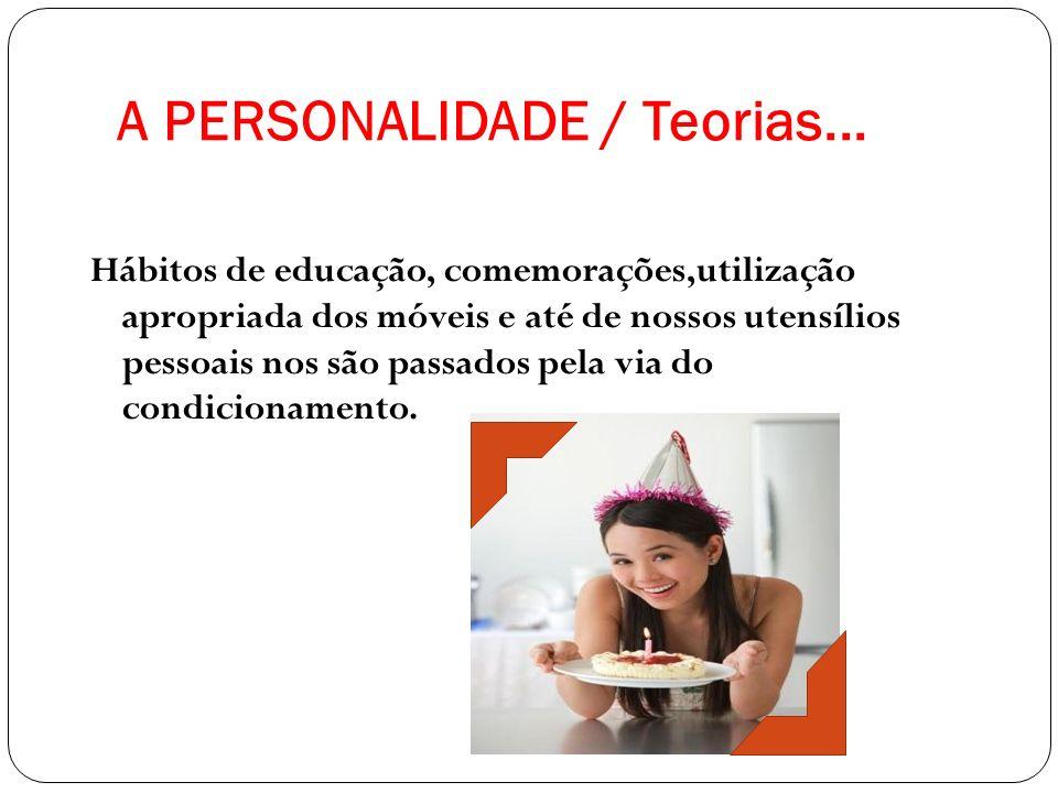 A PERSONALIDADE / Teorias...