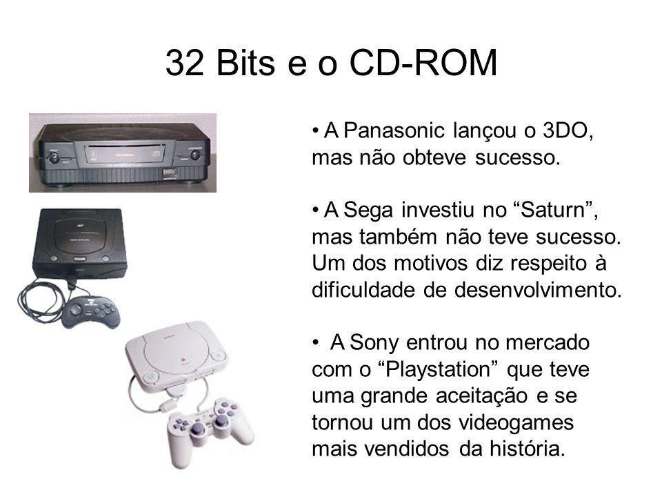 32 Bits e o CD-ROM A Panasonic lançou o 3DO, mas não obteve sucesso.