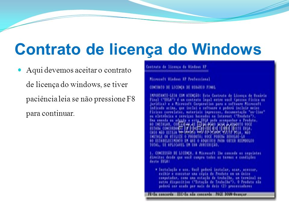 Contrato de licença do Windows