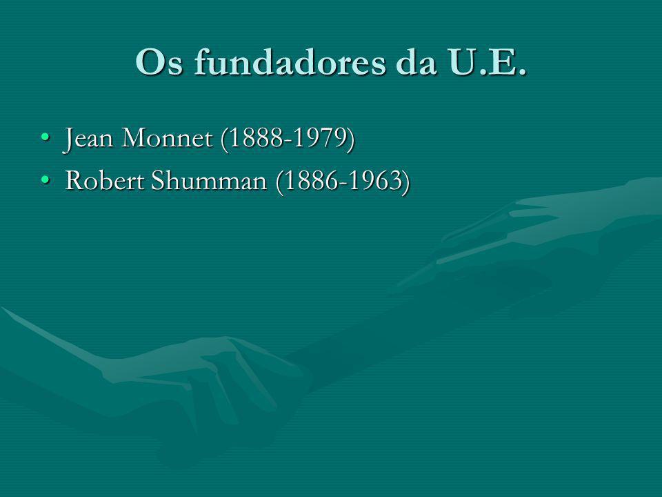 Os fundadores da U.E. Jean Monnet (1888-1979)