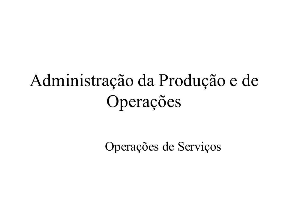 Administração da Produção e de Operações