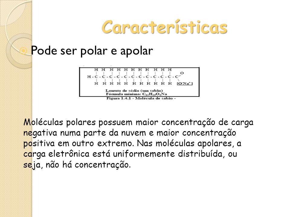 Características Pode ser polar e apolar