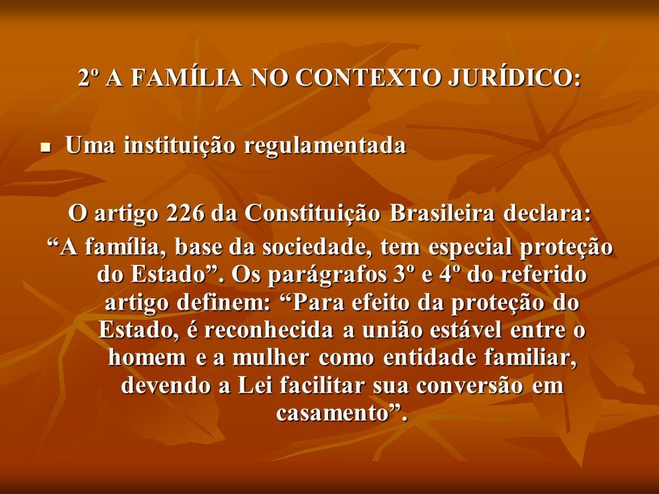 2º A FAMÍLIA NO CONTEXTO JURÍDICO: Uma instituição regulamentada