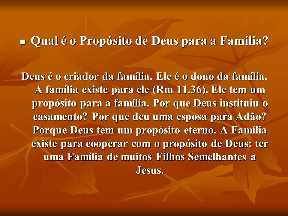 Qual é o Propósito de Deus para a Família