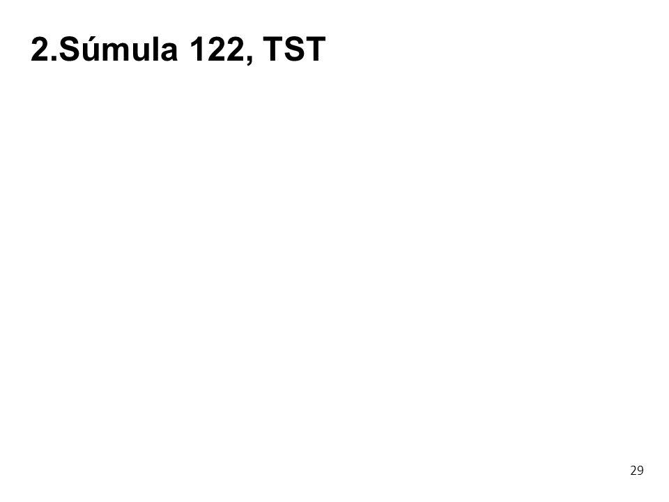 2.Súmula 122, TST 29