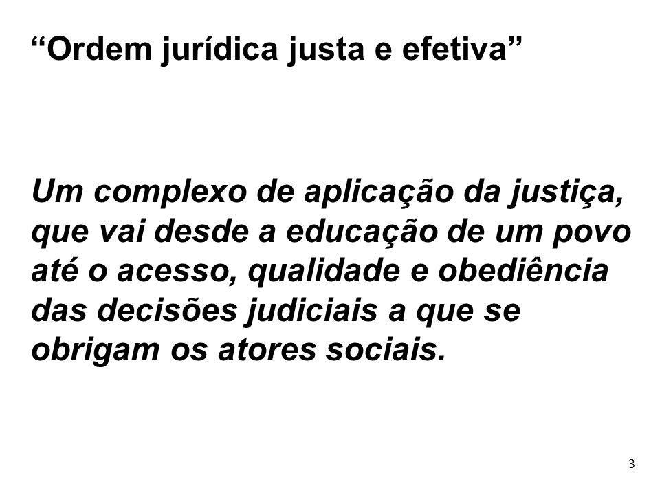Ordem jurídica justa e efetiva