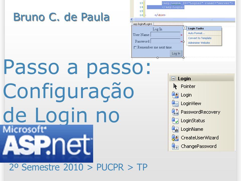 Passo a passo: Configuração de Login no ASP.NET