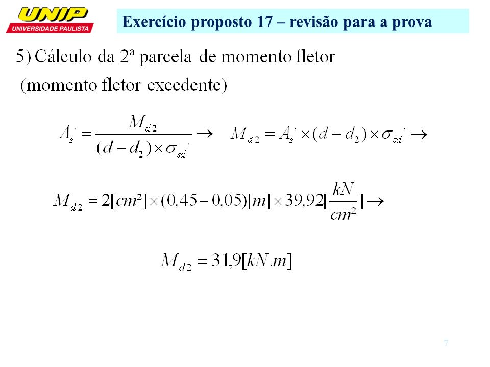 Exercício proposto 17 – revisão para a prova