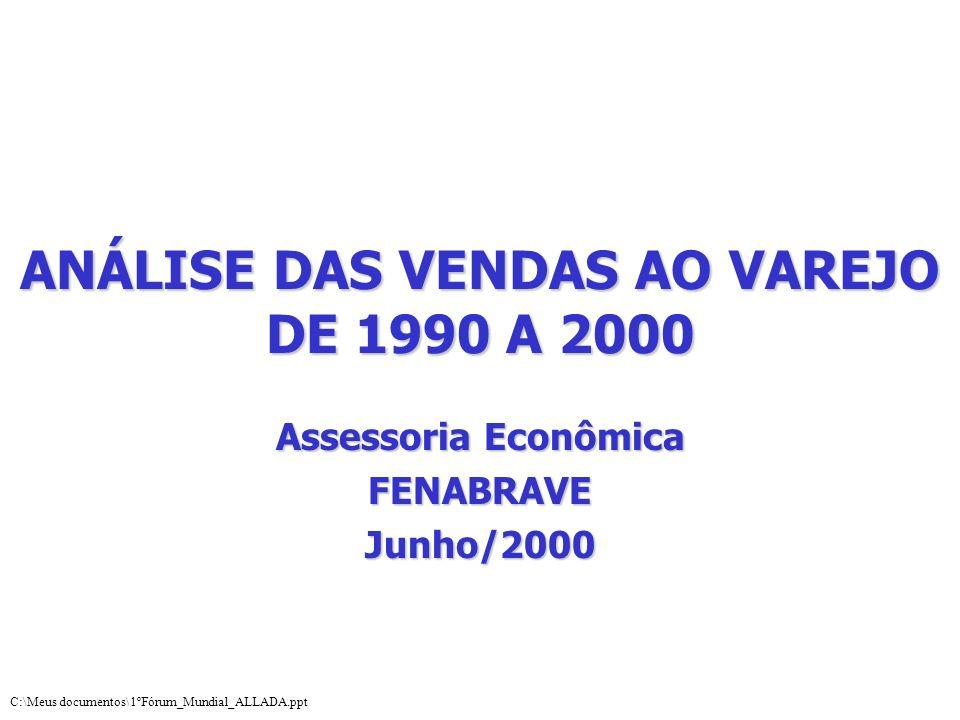 ANÁLISE DAS VENDAS AO VAREJO DE 1990 A 2000