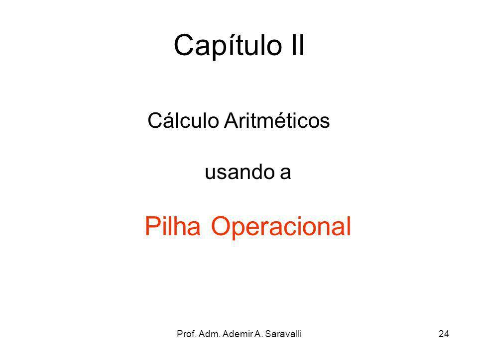 Capítulo II Cálculo Aritméticos usando a Pilha Operacional