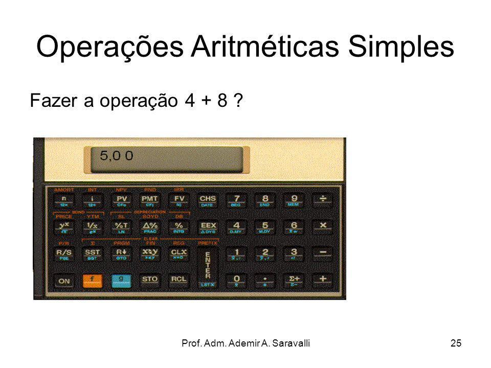 Operações Aritméticas Simples