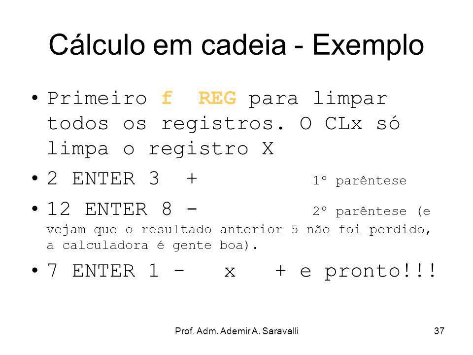 Cálculo em cadeia - Exemplo