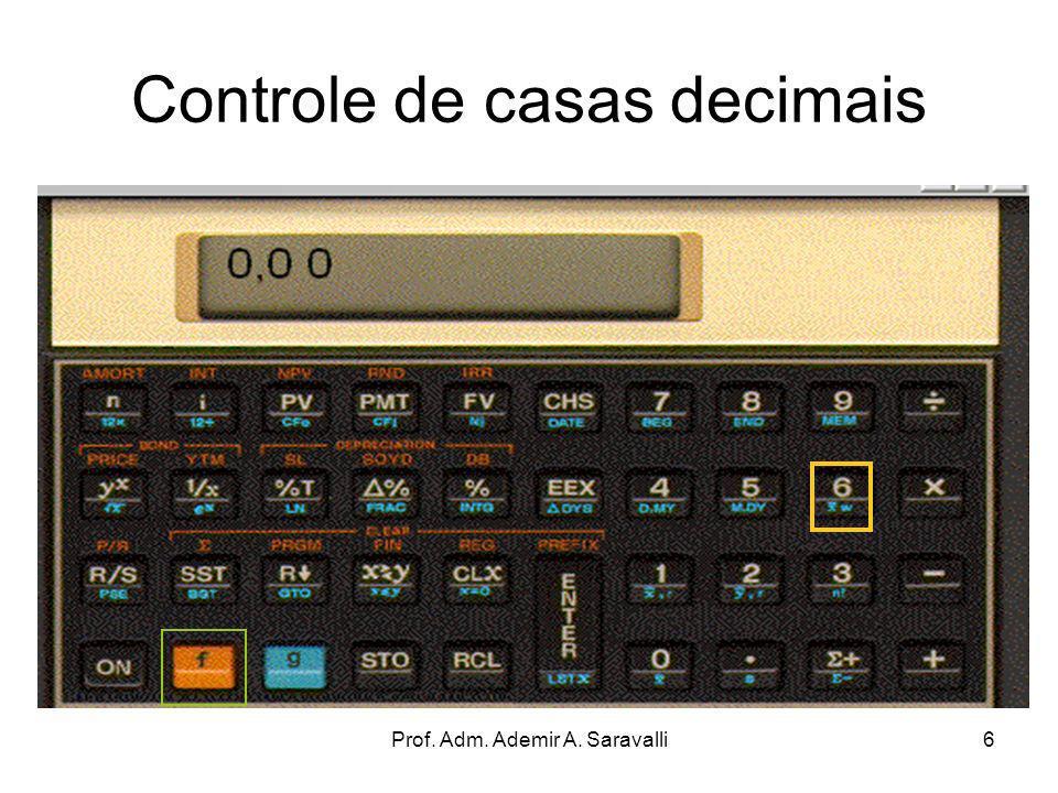 Controle de casas decimais
