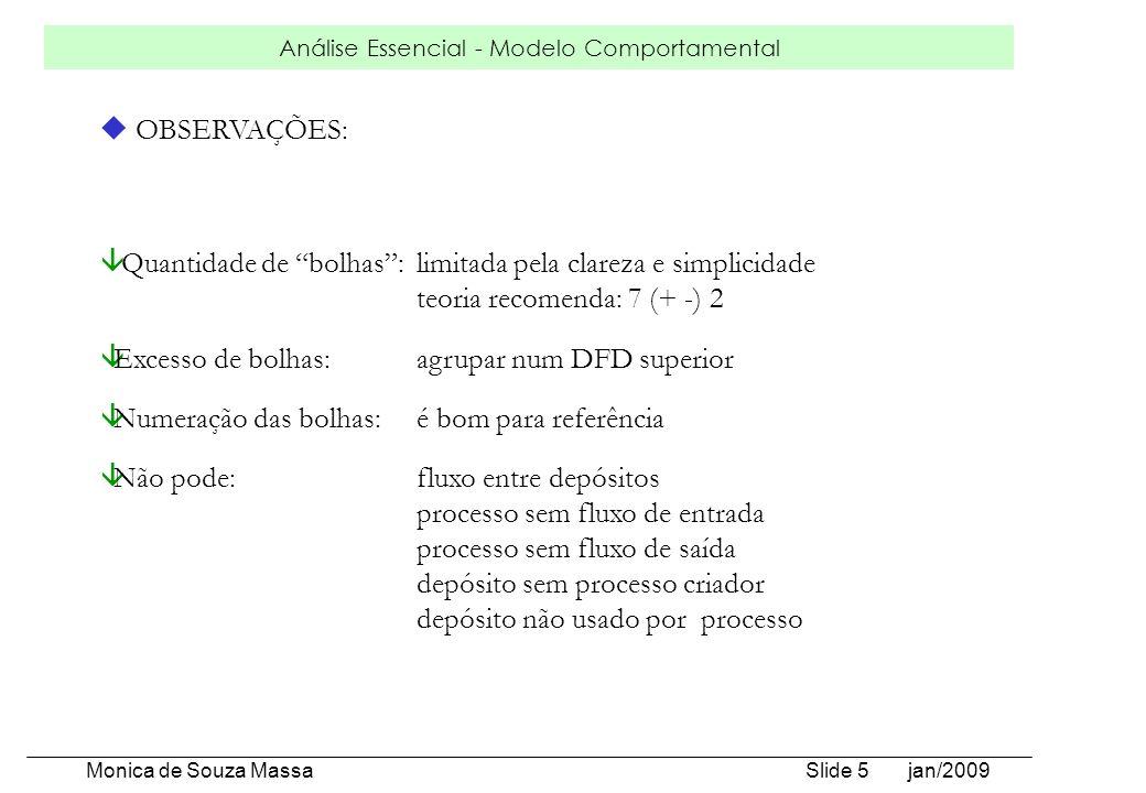 OBSERVAÇÕES:Quantidade de bolhas : limitada pela clareza e simplicidade. teoria recomenda: 7 (+ -) 2.